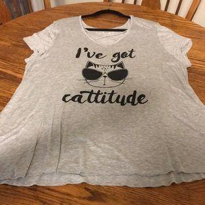 """I've Got Cattitude Shirt"", EUC, 1XL"